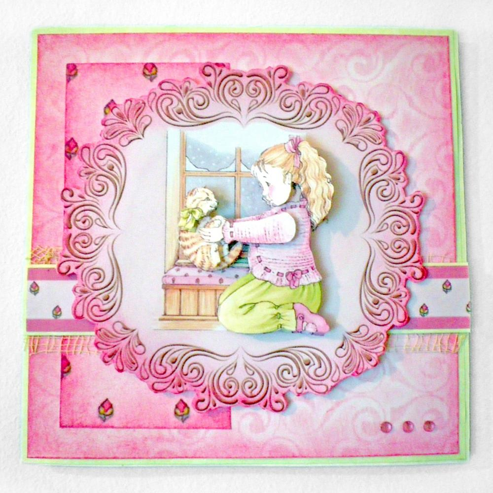 Pretty Handmade Greetings Card - blank